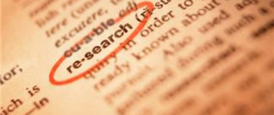 Dictionary with research circled in red pen